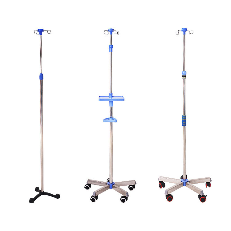 Chinese manufacture aluminum hospital pole iv drip stand