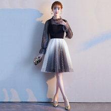 Платье для выпускного вечера с длинными рукавами es It's Yiiya AR323, с высоким воротником, Vestidos De Festa, платье для выпускного вечера, ТРАПЕЦИЕВИДНОЕ ж...(Китай)