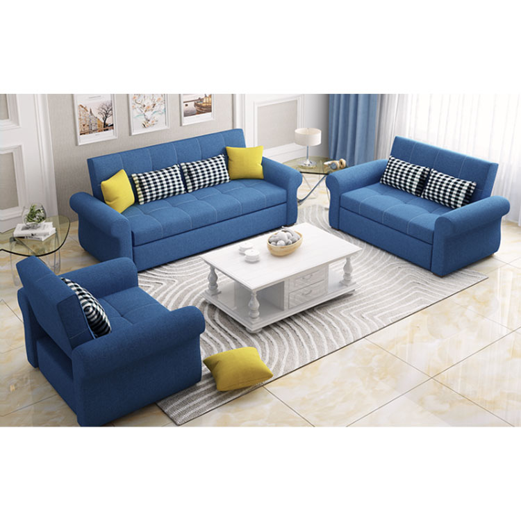 multifunctional  can fold latex sitting and lying dual-use cloth art small family type  web celebrity sofa bed