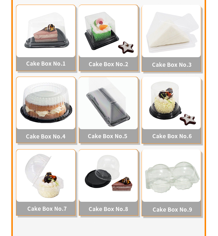 Customized Cupcake Muffin Case Domes Clear Plastic Round Cake Box Clear Cake Packaging Box