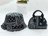 Black  purse hand hat