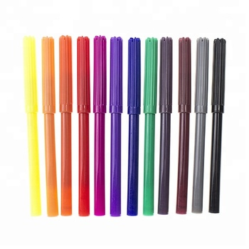 Slim Solid Color Barrel Pen Non Toxic Sketch Pens Washable Water Color Pens for Kids Creation