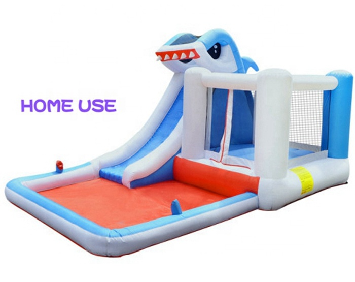 Cheap Big Bouncy Bouncer Shark Inflatable Jumping Castle Water Slide Dubai