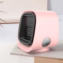 Мини портативный кондиционер 7 цветов Светодиодный увлажнитель воздуха очиститель USB Настольный вентилятор с баком для воды для дома 5 В(Китай)