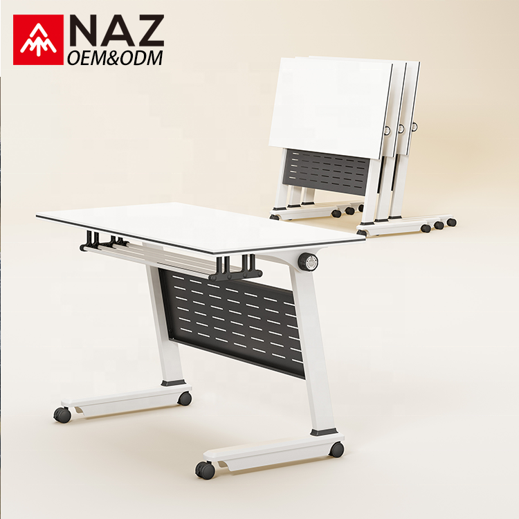 Promotion rectangular conference table with easy operation