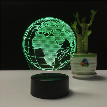 Optical Illusion 3D Globe Lighting Great Night light with a Soft Subtle Glow for Kids beautiful night light for baby bedroom
