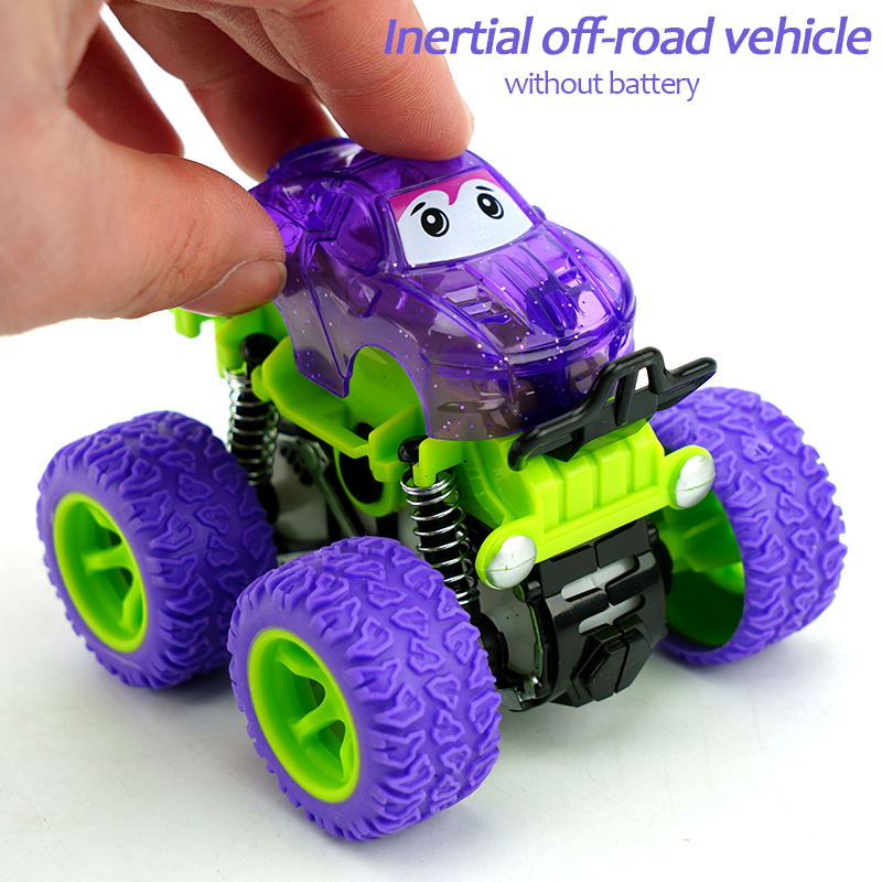 Flashing Child stunt inertia truck set friction 360 racing plastic drift mini small kids car Friction Toy Vehicles