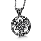 Vintage Silver Hollow Type Traditional Celtic Knot Pendant for Men Jewelry