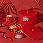 Tray Chinese New Year Living Room Tray Melon Seeds Snack Nut Sealed Fruit Dish