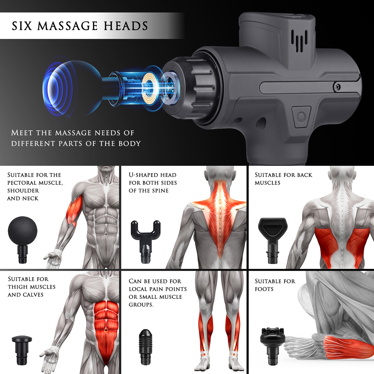 2021 New Design Brushless Massager Low Sound Vibration Muscle Massage Gun