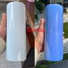 20oz UV เปลี่ยนสีตรง Tumbler A-สีขาวสีฟ้า