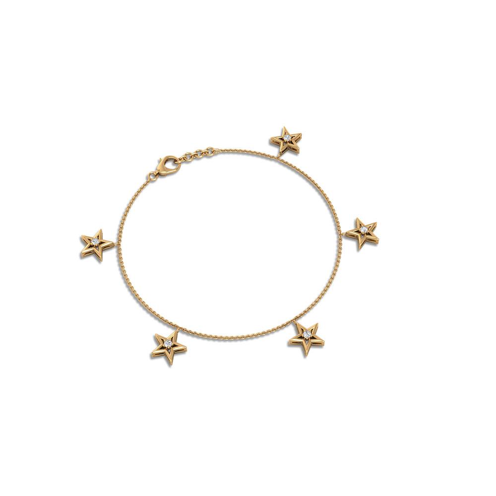 Gift For Her Gold Chain Bracelet 14k Gold Filled Dainty Star Bracelet Tiny Star Bracelet
