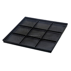 Black ESD Antistatic PCB plastic LCD tray for industrial storage 315*315*15mm