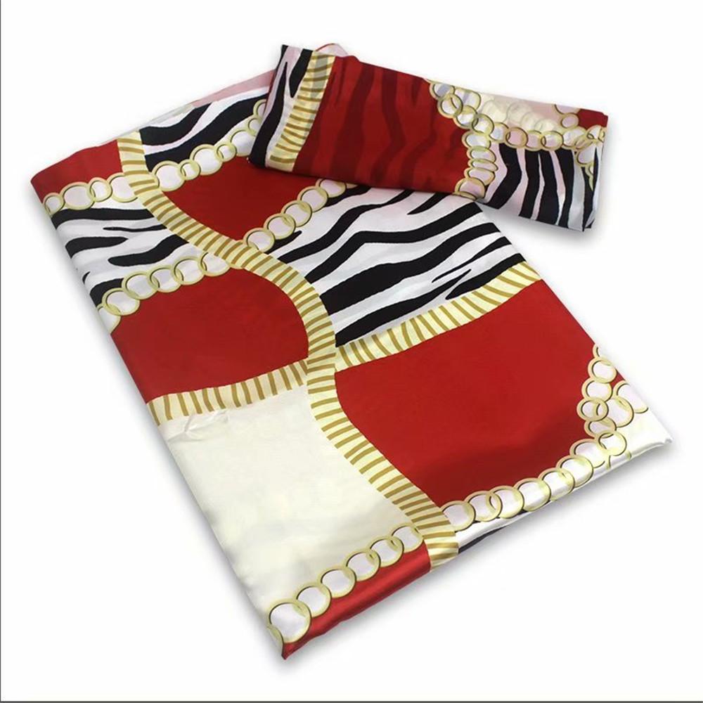 Beautifical african prints silk satin fabric soft and chiffon scarf anakra satin tissu ML9SC01-30