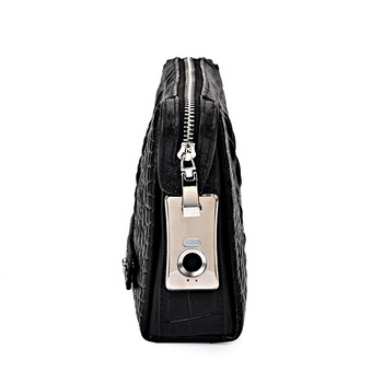 theft prevention fingerprint lock handbag anti theft hand bag clutch bag for man