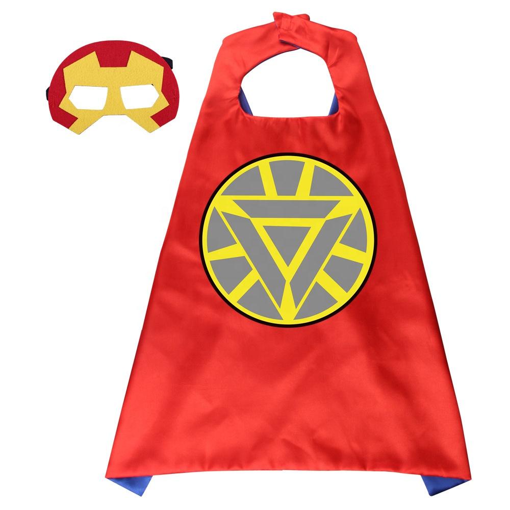 Amazon NEW Child Favor Cosplay Custom OEM Kids Hero Cape Superhero Cape Mask Cloak Set Costume
