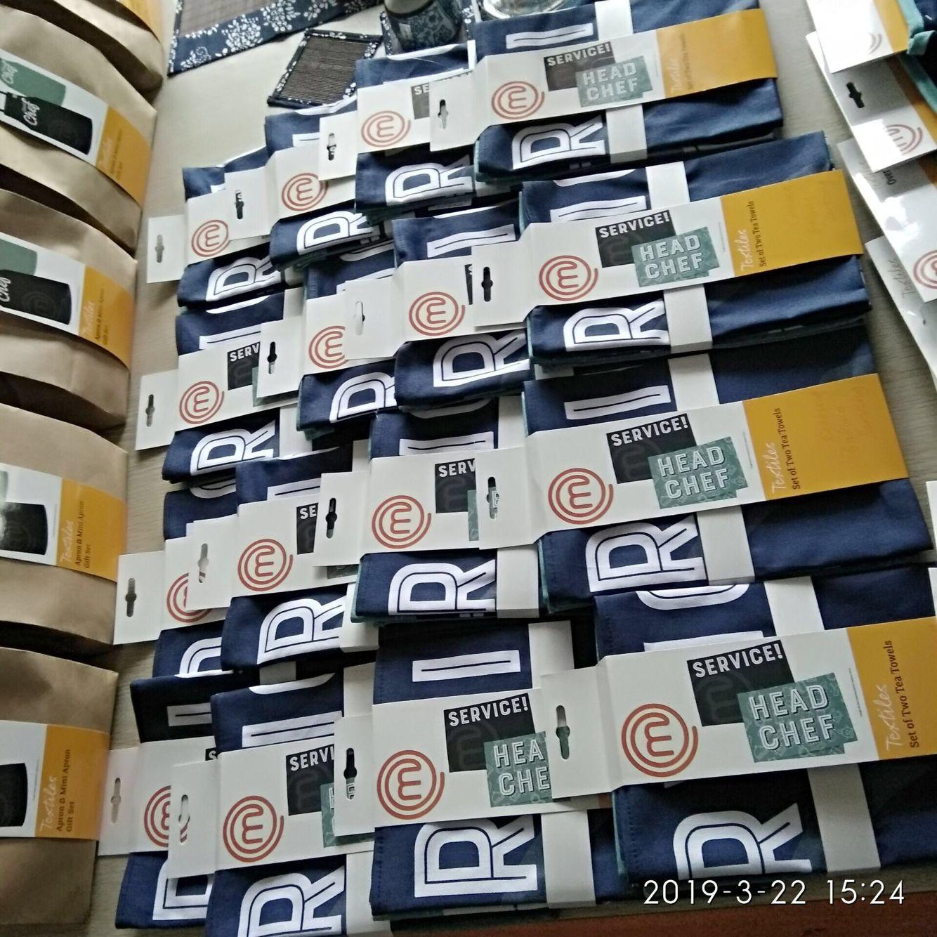 Комплект кухонного текстиля для супермаркета, Кухонное чайное полотенце с индивидуальным принтом