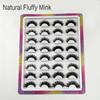 16pairs natural fluffy mink