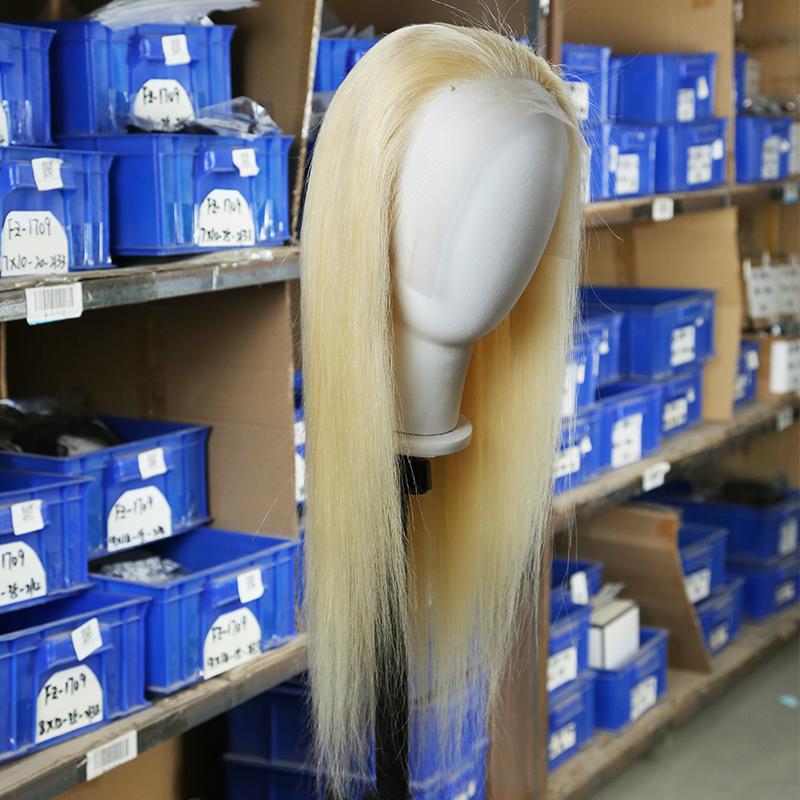Transparent 613 Blonde Lace Wig Human Hair Wigs Brazilian Bone Straight Human Hair Wig