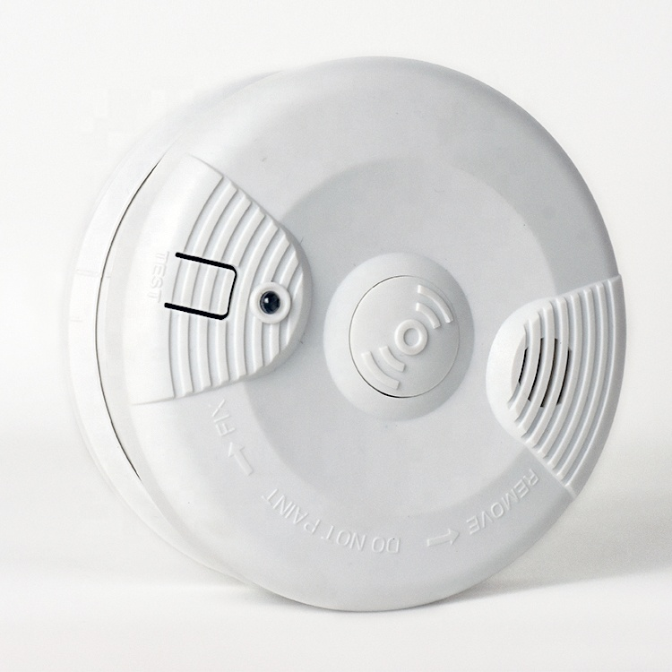 Wireless Battery Operated StandAlone Optical Photoelectric Portable Outdoor Cigarette Smoke Detector CE Standard