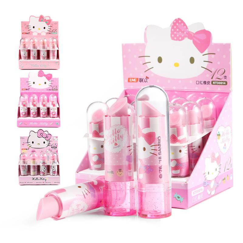 TOPSTHINK Новинка, недорогой 3D ластик, высококачественный Ластик Hello Kitty, ластик для губной помады