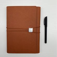 Эластичный блокнот в стиле ретро с кожаным чехлом A5, однотонный блокнот, планировщик 2020, офисный простой блокнот(Китай)
