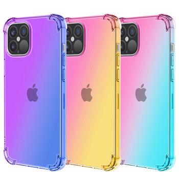 Factory Phone Case for iPhone 11 Pro max iPhone 12 radiant Color Flexible TPU Back Cover Mobile Shell Case for iPhone 12 Pro max