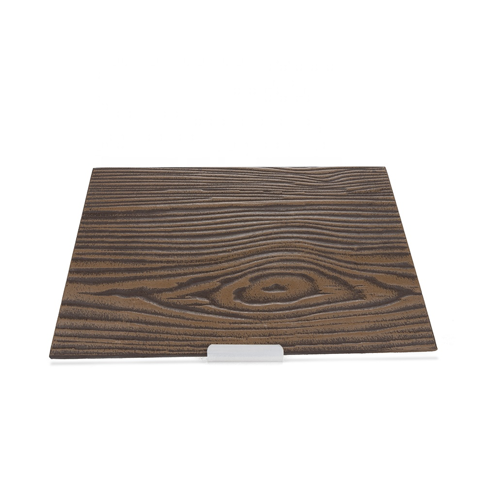 China Factory 100% Asbestos Free 190mm 200mm 210mm Wood Grain Fiber Cement lightweight exterior siding panels