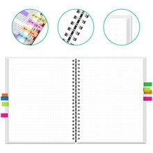 NEWYES dot grid умный многоразовый стираемый спиральный блокнот формата А4, бумажный блокнот, дневник, журнал для офиса, школы, путешественников, р...(Китай)