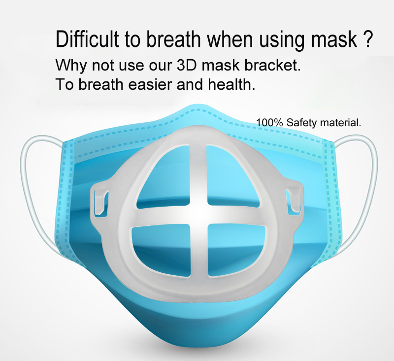 Держатель для маски 3D, силиконовая рамка, дышащий держатель для артефакт, внутренняя поддерживающая Подушка, противоударный кронштейн