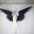 Black feathered wing devil angel Halloween wings catwalk model large cosplay holiday party men's wings