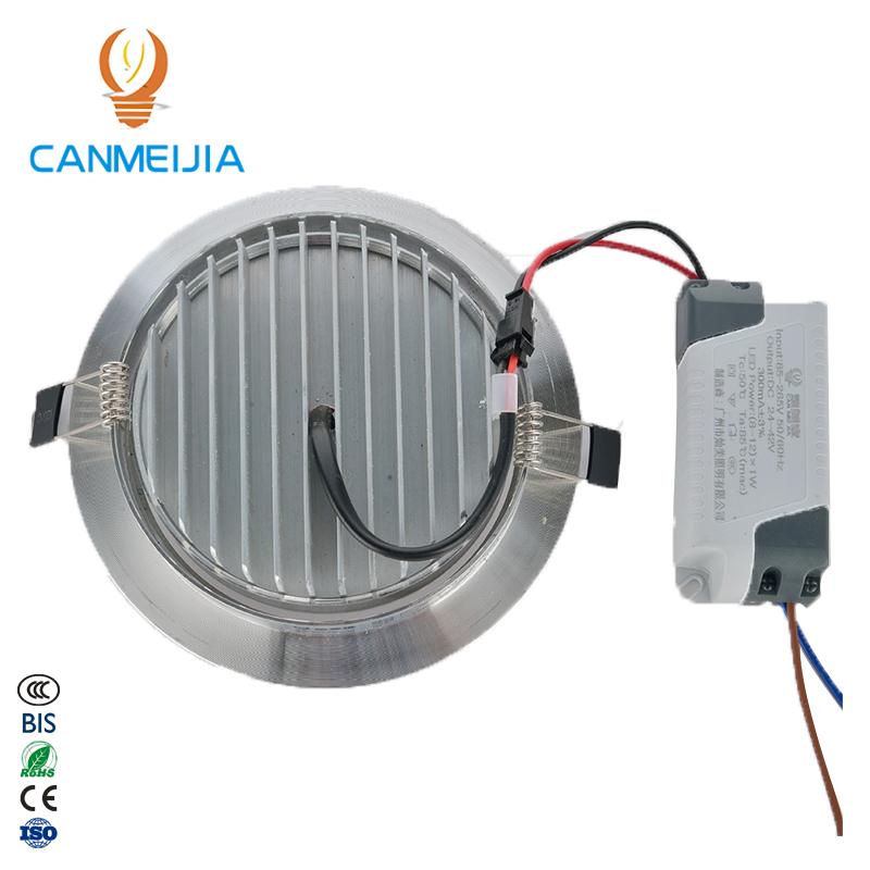 Светодиодный точечный светильник 3 Вт, алюминиевый точечный светодиодный встраиваемый светильник 3 Вт, 5 Вт, 7 Вт, 9 Вт, 12 Вт, Светодиодный точечный светильник на потолок 85-265 в, холодный и теплый белый