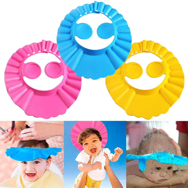 Мягкая защитная шапочка для душа, шапочка для купания, шапочка для шампуня для детей A313