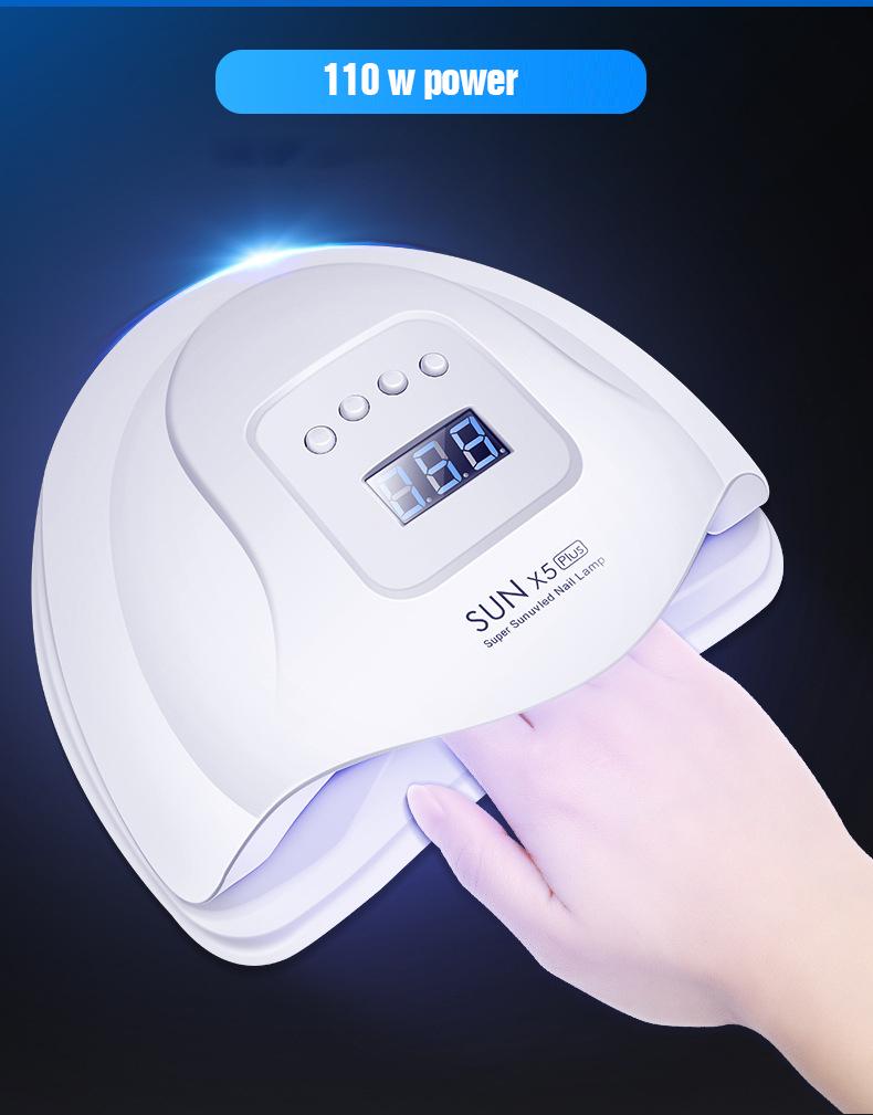 Faceshowes X 54 Вт мощная Сушилка для ногтей Uv Led Fast для Полимеризации Гель-лака лампа для гелевых ногтей, FD-160A