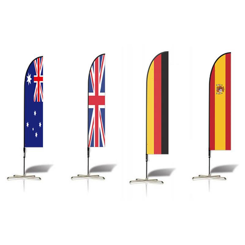 Двухсторонняя Полиэстеровая реклама на заказ, Пляжная КАПЛЕВИДНАЯ перо, флаг страны, баннер, шест
