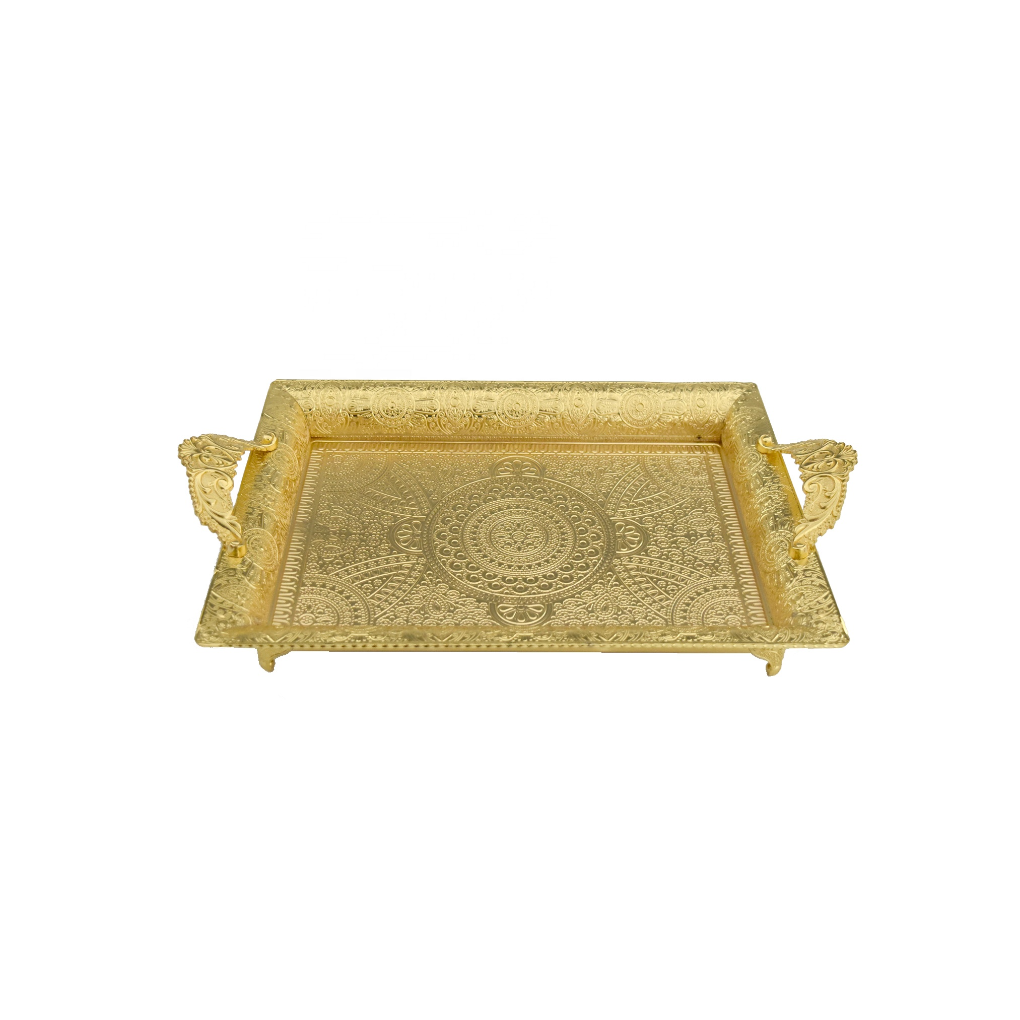 Home Party Decor Silver Gold Metal Rectangle Food Fruit Serving Tray With Handle Buy Food Fruit Serving Tray With Handle Silver Gold Metal Rectangle Cake Dessert Display Dish Home Party Decor Patterned Chocolate