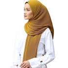 Pleated Scarf New Design Pleated Bubble Heavy Chiffon Crinkle Hijab For Muslim Women Head Scarf
