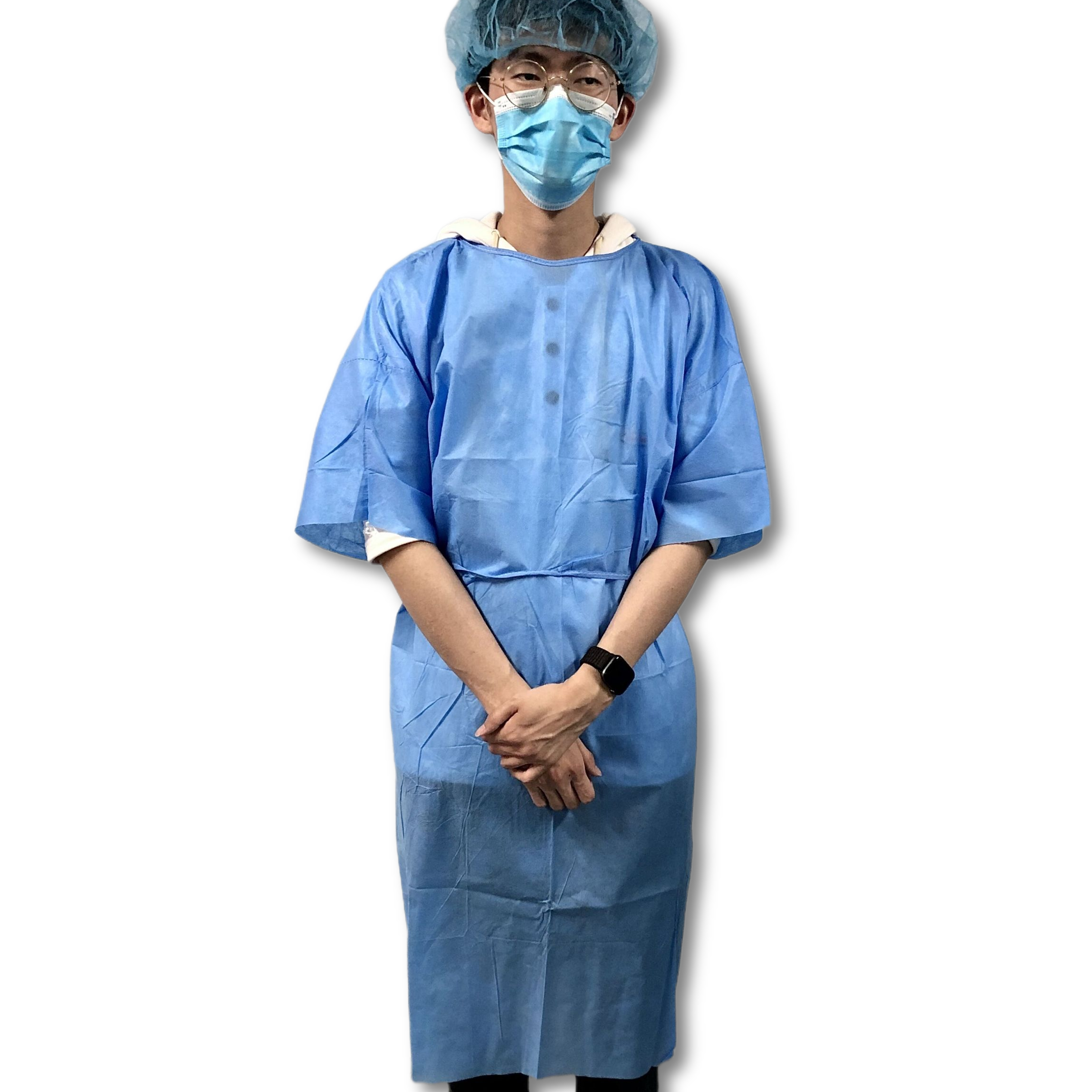 Blue Scrub Suits Non Woven Nursing Uniforms Waterproof And Easy-breath with Short Sleeves - KingCare   KingCare.net