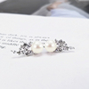 Finished white pearl earrings