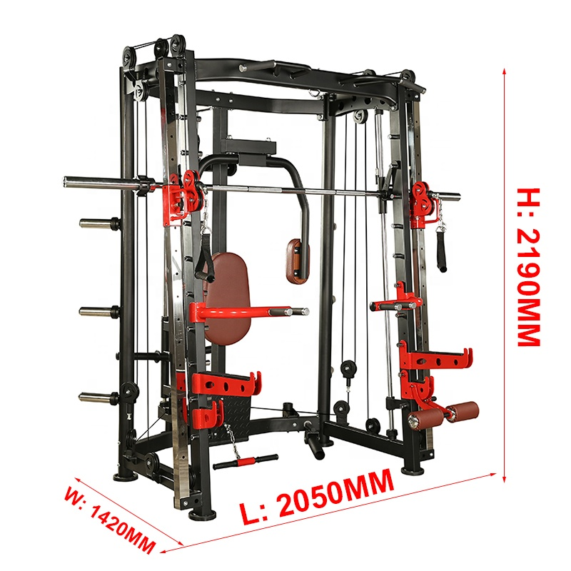life fitness home use fitness accessories multi functional trainer power squat rack smith machine with weight stack