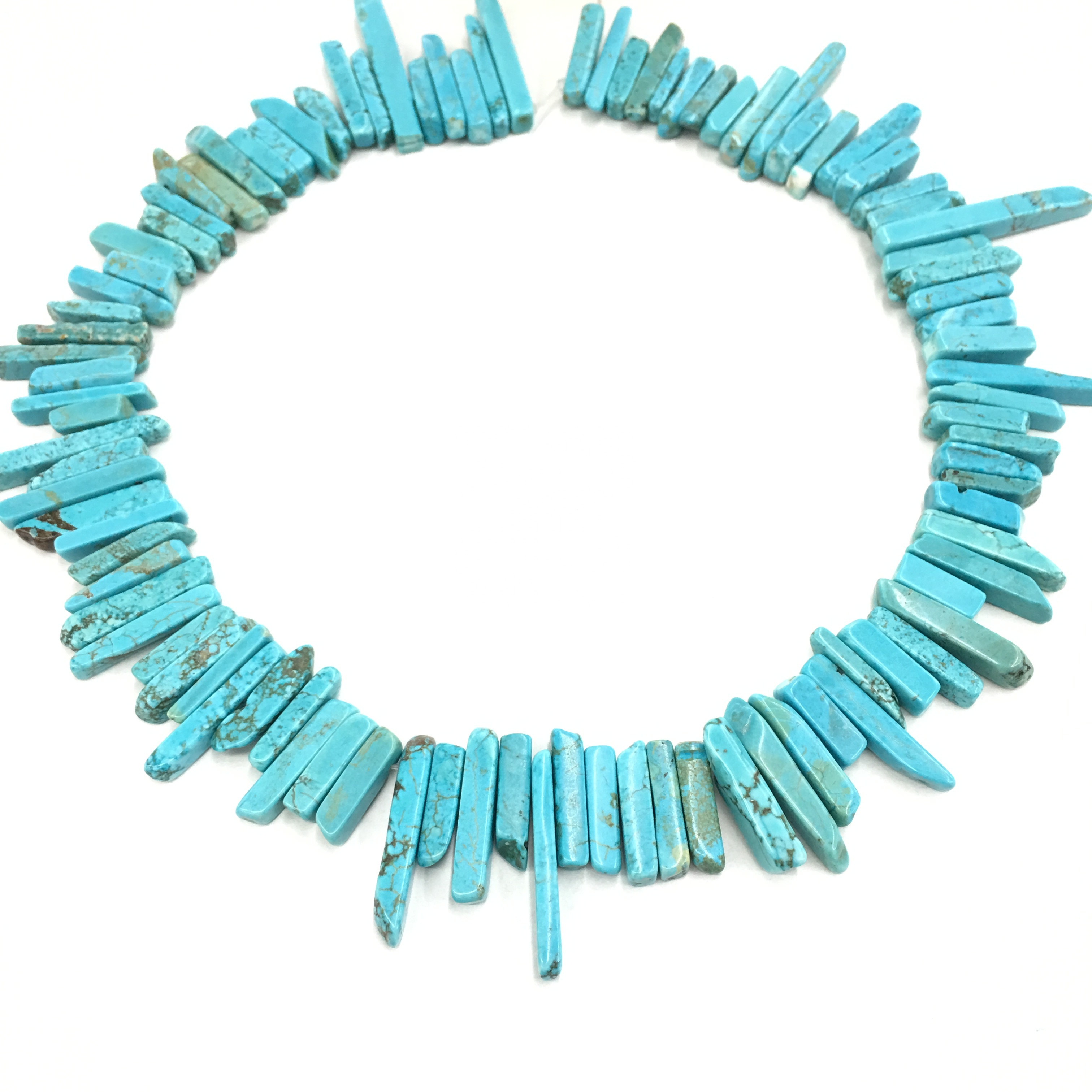 Turquoise Jasper Stick Beaded Necklace