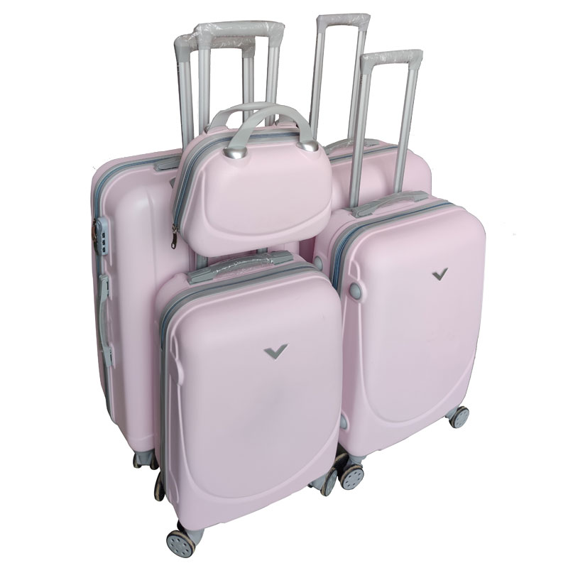abs carry on cabin luggages and trolley bags travel suitcase with small hand bag