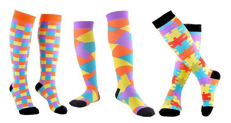 China Socks Manufacturer Ladies Stylish Custom Design Plain Cotton Knitting Compression Knee High Socks Stockings
