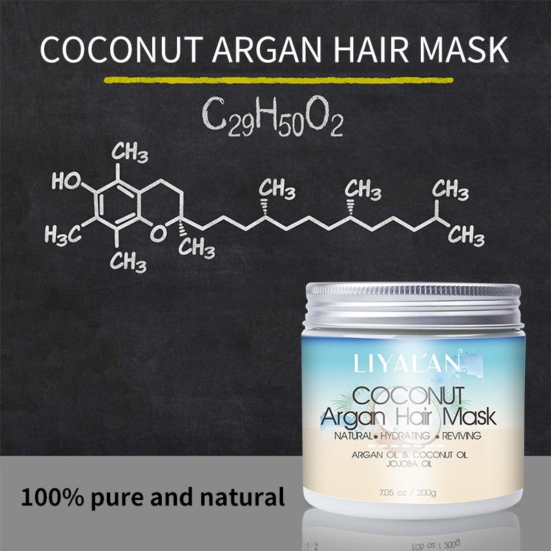 Private Label natural Organic Hydrating conditioner collagen keratin repairing coconut Argan Oil Hair mask