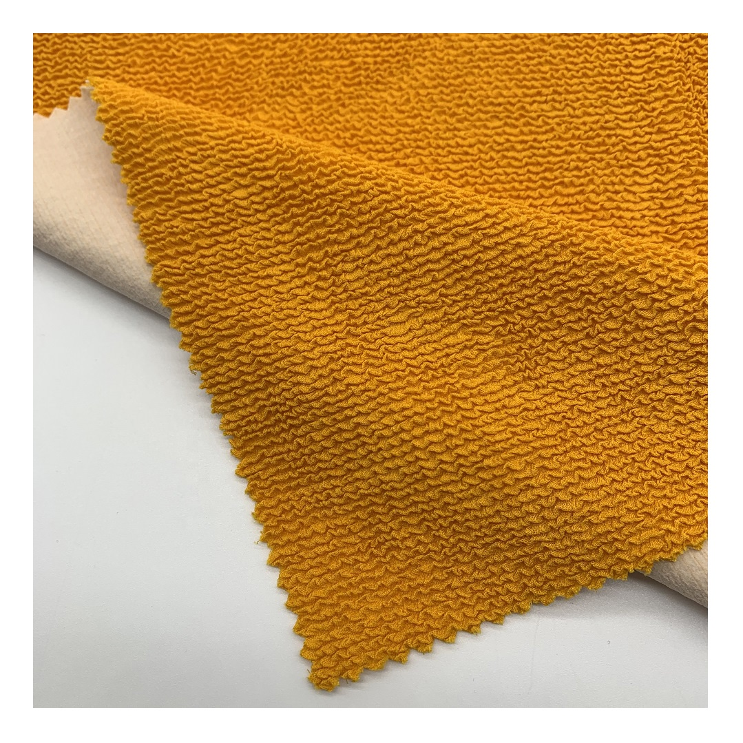 customized color tricot crinkle seersucker fabric for swimwear bikini jacquard good stretch