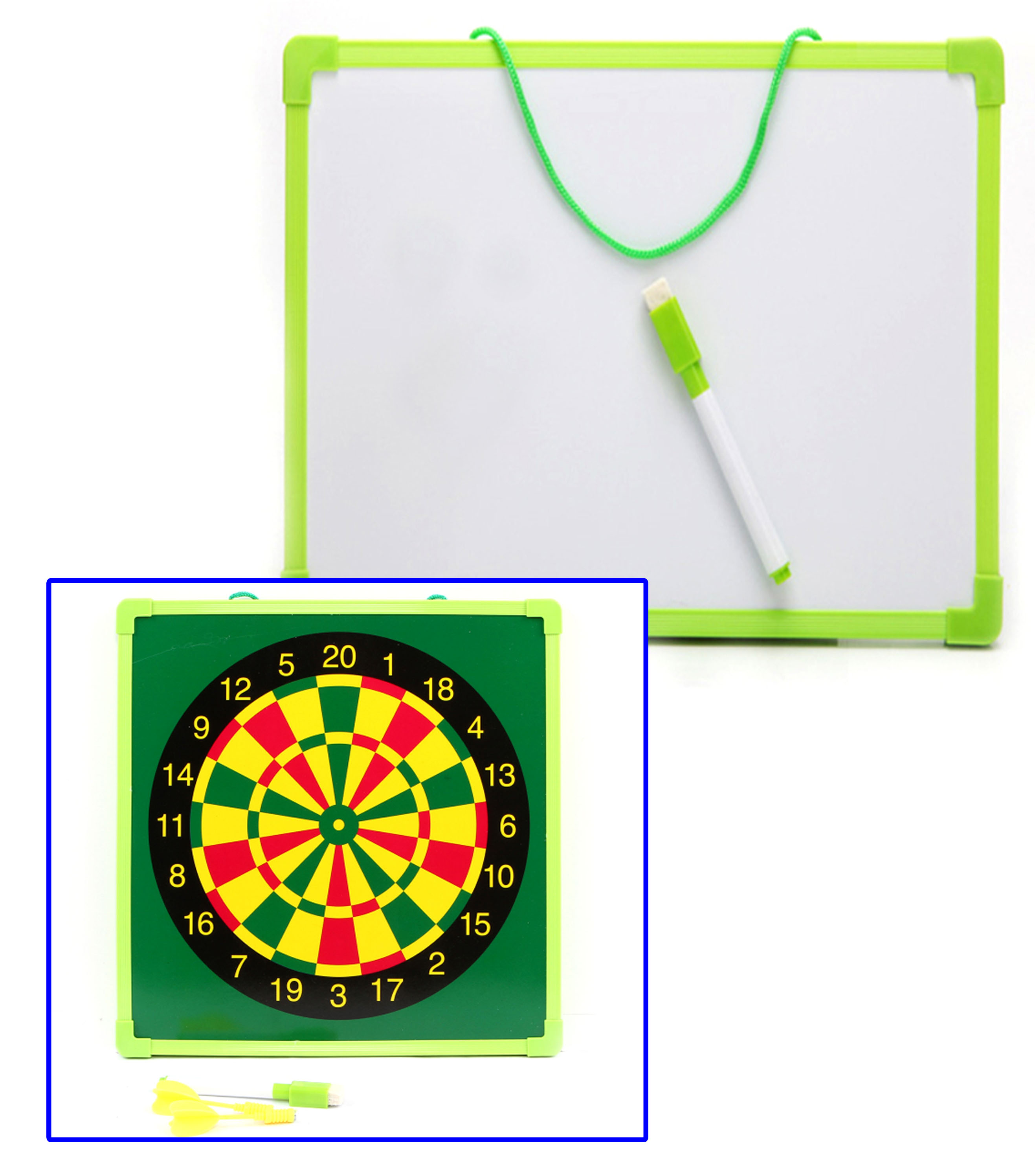 29*29cm Two-Sided Whiteboard With Plastic Frame Dry Erase Lapboards For Kids - Yola WhiteBoard | szyola.net
