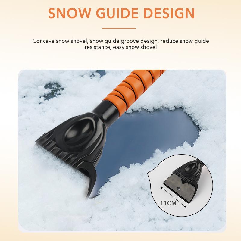 Новый дизайн, инструмент для зимней очистки автомобиля, метла для снега автомобиля, щетка для снега высокого качества со скребком для льда