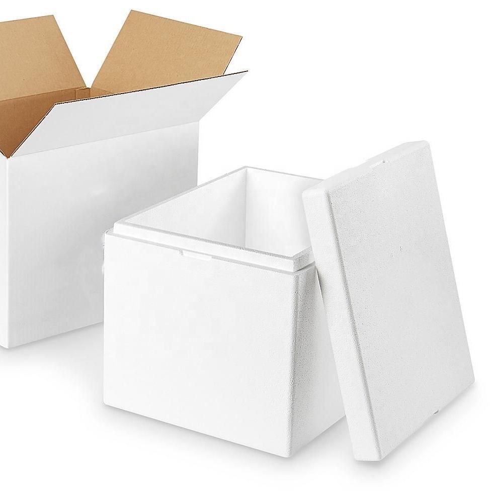 Высококачественный комплект для отправки из изолированной пены с картонной коробкой для хранения напитков