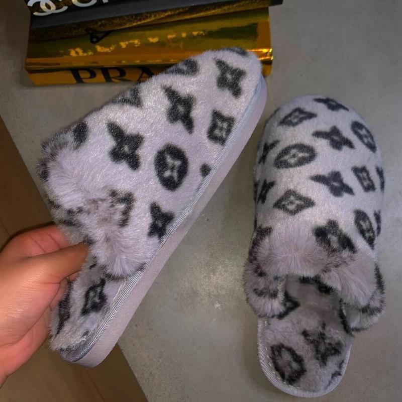 2021 luxury newest warm ladies fuzzy plush indoor slides slippers winter fur women fluffy furry house slippers