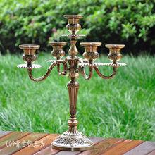 Скандинавские золотые подсвечники, железный стол, центральный элемент, ужин при свечах, романтические огни, подсвечник, украшение для дома ...(Китай)